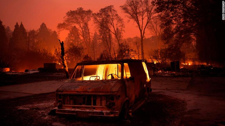 California Wildfire Toll: 9 Lives, Thousands of Homes, Buildings