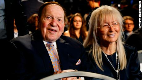 Trump to award Sheldon Adelson's wife Miriam highest civilian honor