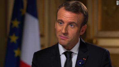 Macron speaks before Peace Forum attended by world leaders