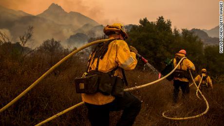 President Trump's tweet on California wildfires angers firefighters, celebrities
