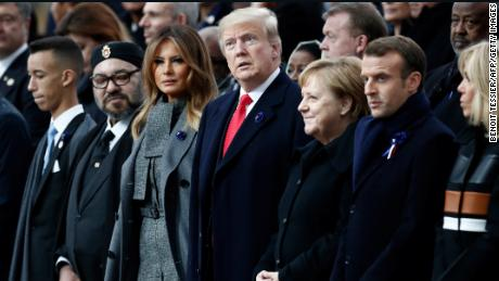 Macron rebukes nationalism as Trump observes Armistice Day