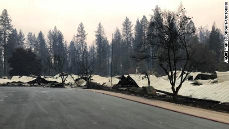Before and after photos show how wildfire reduced Paradise, California, to ashes