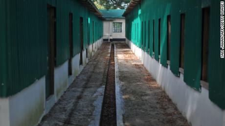 Shelter buildings constructed at a Rohingya repatriation centre is seen in Keruntoli near Teknaf, in Bangladesh on November 12, 2018.
