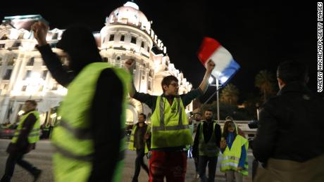 Protests against rising fuel and oil prices have already begun in France including in Nice southeastern France on November 15