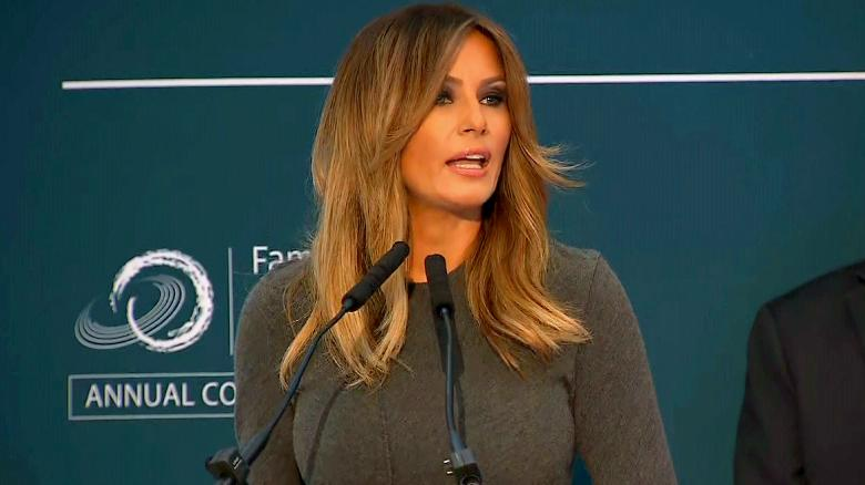 Melania Trump derides media focus on