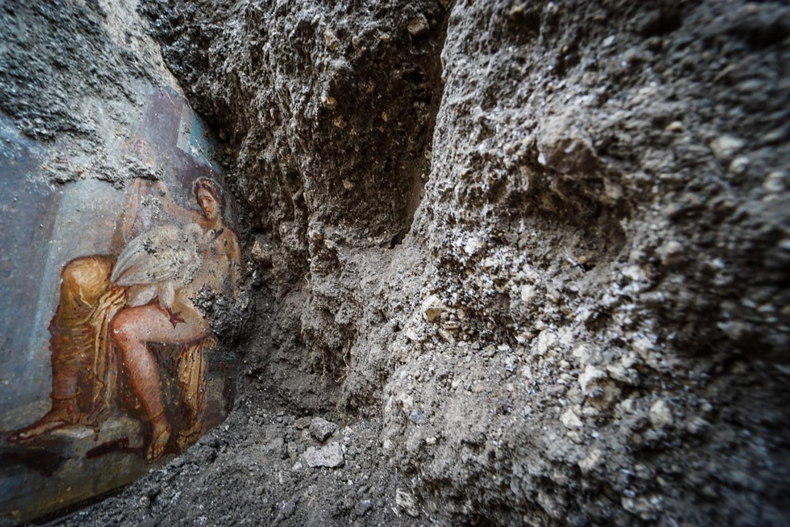 Ancient erotic fresco uncovered in Pompeii