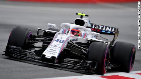 Robert Kubica test driving for Williams in the first practice session ahead of the Austrian Formula One Grand Prix in June.