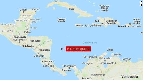 The 6.0 magnitude earthquake struck off the coast of Colombia on Saturday November 25, 2018. No tsunami warning has been issued.