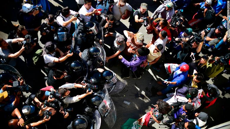 Busiest U.S.-Mexico border crossing reopens after violent clashes