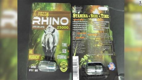 The FDA warns against using Rhino male enhancement products