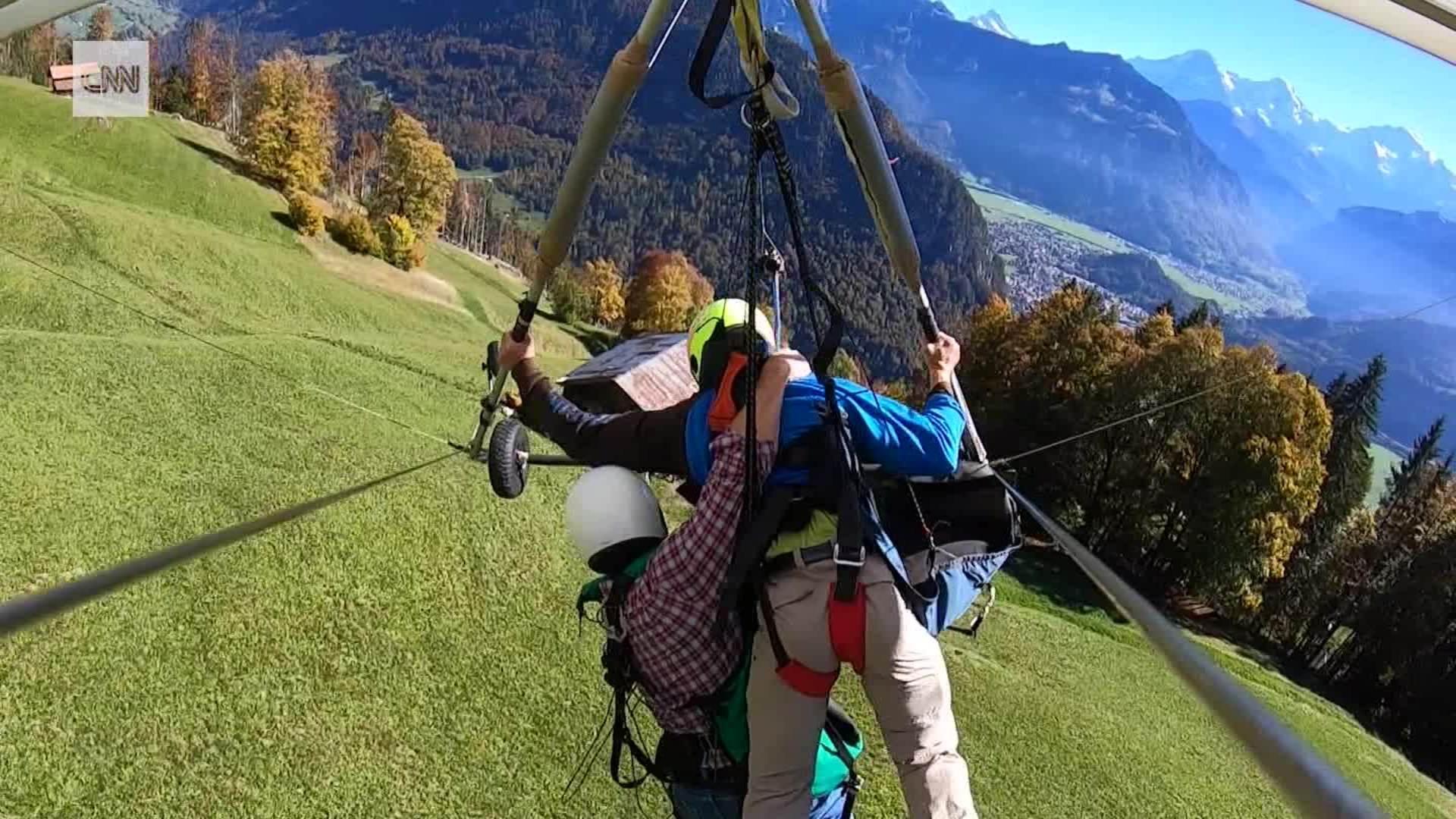 Video shows holiday hang glider flight going horribly wrong