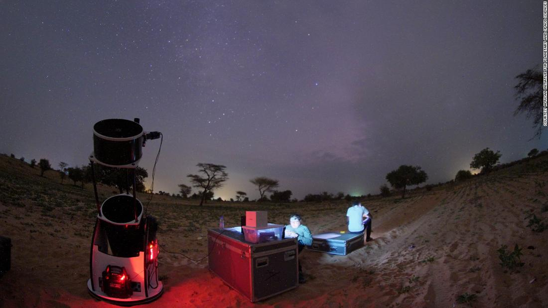 The event marked the first time Senegal was involved in a space mission to explore our solar system. Senegalese scientists were trained to use the telescope and acquisition systems, to be fully operational during the night of observation.<br />