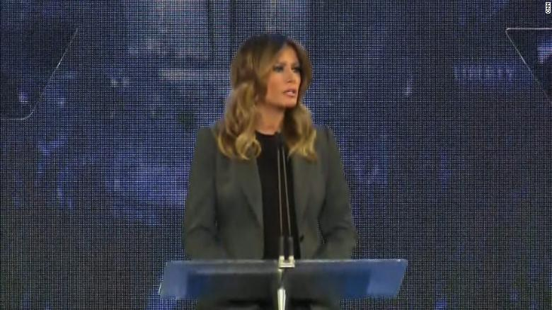First Lady Melania Trump Receives Standing Ovation at Liberty University