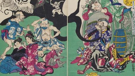 """The Japanese """"demon of painting"""" who invented manga in 1874"""