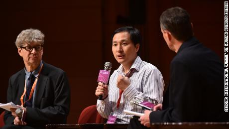 Chinese scientist He Jiankui at the Second International Summit on Human Genome Modification in Hong Kong on November 28, 2018.