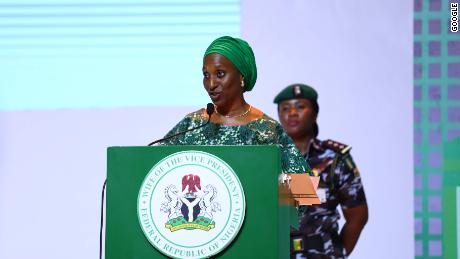 H.E. Mrs. Dolapo Osinbajo Wife of the Nigerian Vice President and Patron of Google Impact Challenge Nigeria