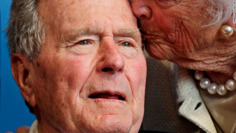 Donald Trump pays tribute to George HWBush
