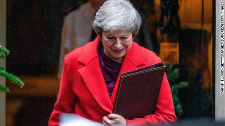 Prime Minister Theresa May's Conservative Party casts ballots in no-confidence vote