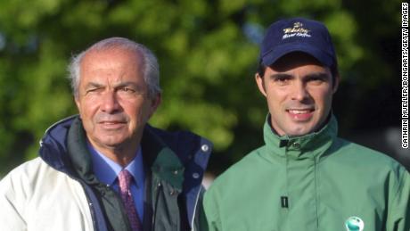 Nelson Pessoa (left) and son Rodrigo pictured in 2004.