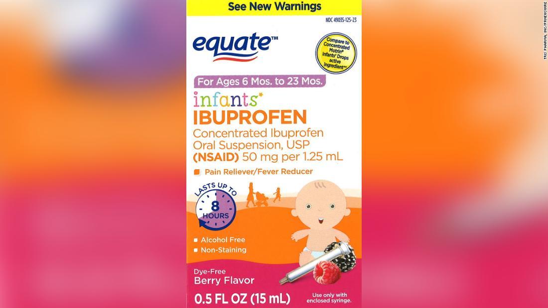 Some recalled ibuprofen was sold at Walmart.