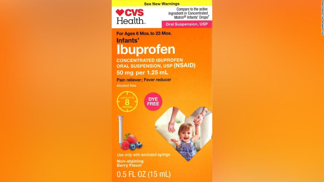 The recalled medication was also sold at CVS.