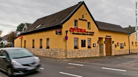 The German pizzeria where police arrested an alleged member of the Italian 'Ndrangheta mafia organization on Wednesday.