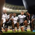 fiji rugby huddle cape town
