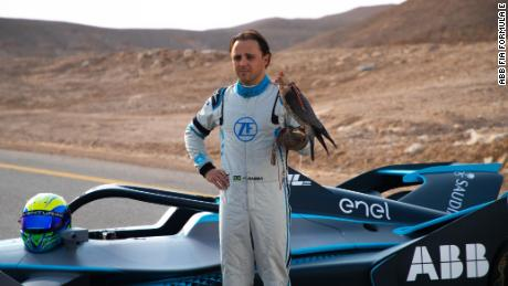 Felipe Massa raced a peregrine falcon ahead of his Formula E debut.