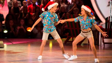J.T  Church and Sky Brown (left) on Dancing with the Stars: Juniors.