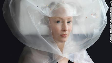 Recycled plastic gets a second life in Renaissance-style portraits