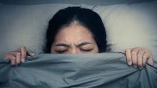 Asian woman unable to fall as sleep. Asian girl having trouble with getting up early in the morning, Nightmare.; Shutterstock ID 416975215; Job: CNNie Design Website