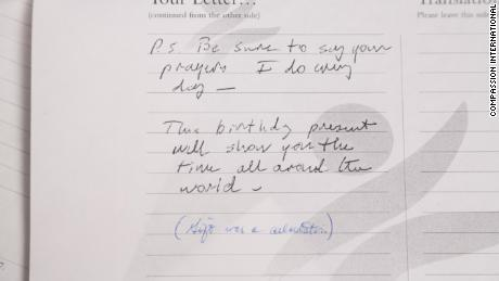"""P.S. Be sure to say your prayers. I do every day,"" President Bush wrote."
