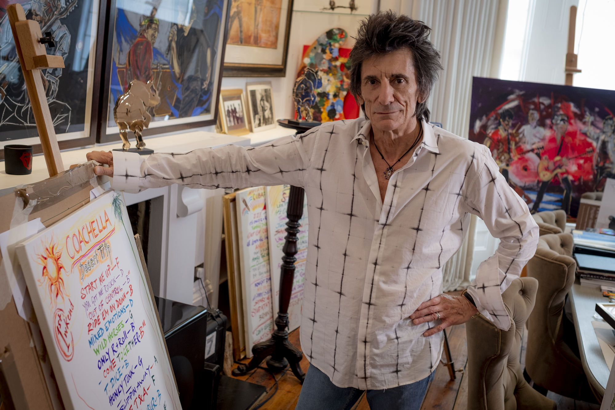 billiga priser billigt till salu premium urval Rolling Stones' Ronnie Wood: Painting is my 'God-given talent ...
