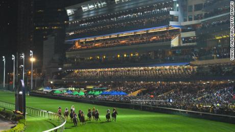 The Happy Valley Racecourse hosts the The Longines International Jockeys Championship.