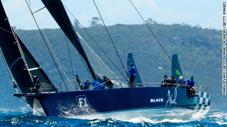 Black Jack pipped 2017 line honors winner Comanche for second place in a thrilling finish in Hobart.