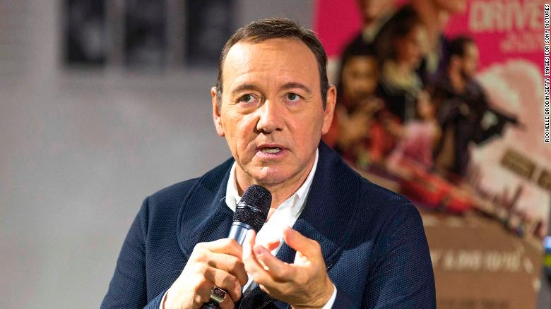 Kevin Spacey arrives in court on charges of allegedly groping young man