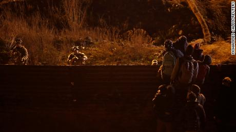 United States  border force fires tear gas at migrants crossing from Mexico
