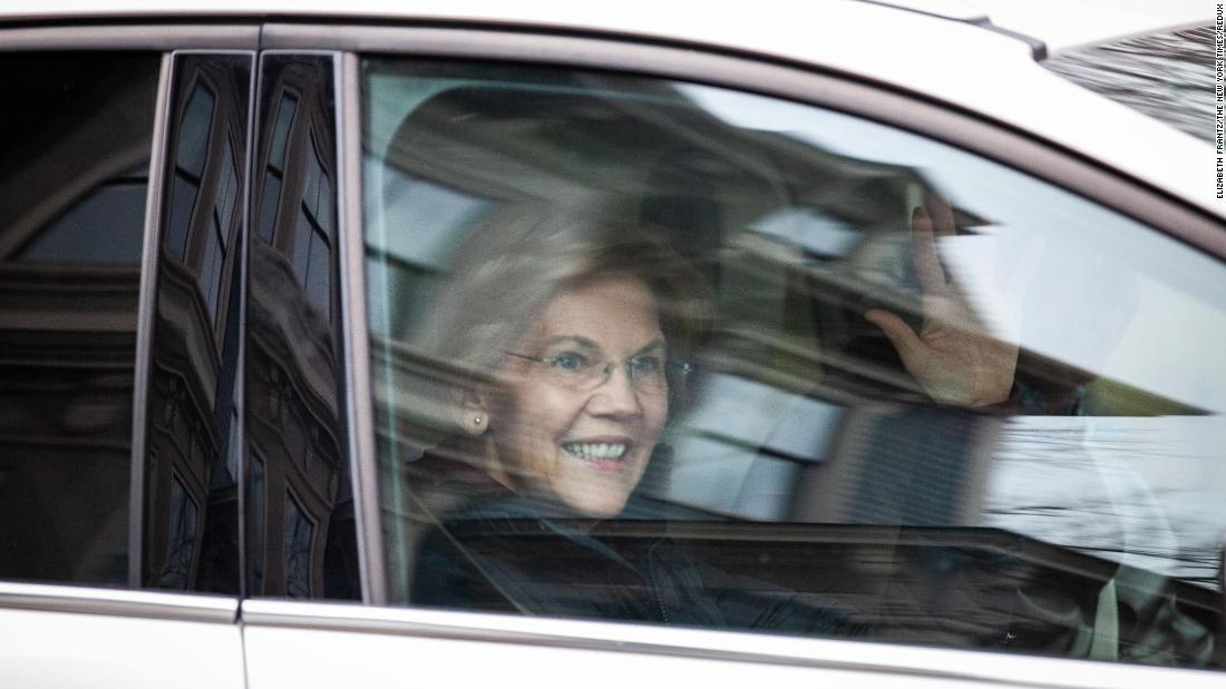 """US Sen. Elizabeth Warren departs after speaking with reporters outside her home in Cambridge, Massachusetts, on Monday, December 31. <a href=""""https://www.cnn.com/2018/12/31/politics/elizabeth-warren-exploratory-committee-2020/index.html"""" target=""""_blank"""">Warren took a major step toward a presidential run Monday,</a> announcing that she is forming an exploratory committee ahead of an expected campaign for the Democratic nomination."""