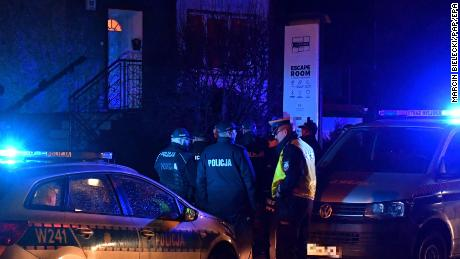 Five teenage girls die in escape room blaze in Poland