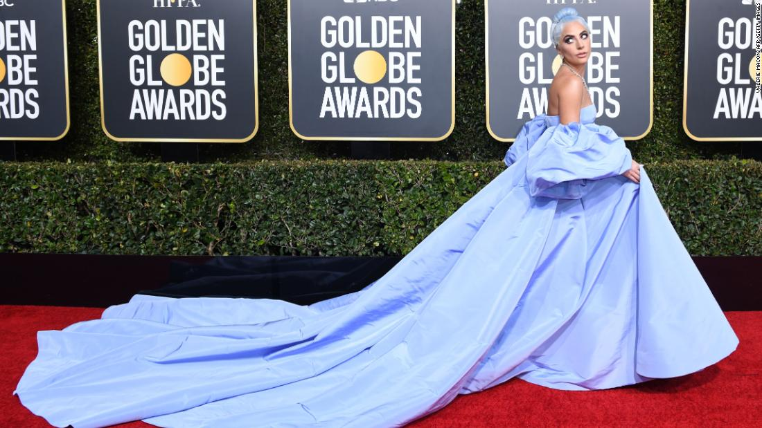 Lady Gaga's Golden Globes dress is being auctioned off by a hotel housekeeper