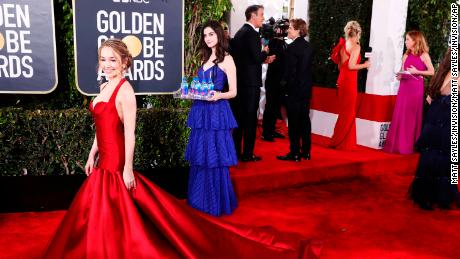 Fiji Water girl Kelleth Cuthbert star of show at Golden Globe Awards