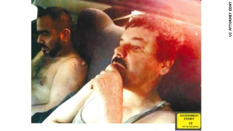 """Joaquin """"El Chapo"""" Guzman is pictured with an associate, left, known as """"Cholo Ivan."""""""