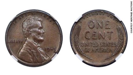 Rare 1943 copper coin fetches a pretty penny in auction: $204,000