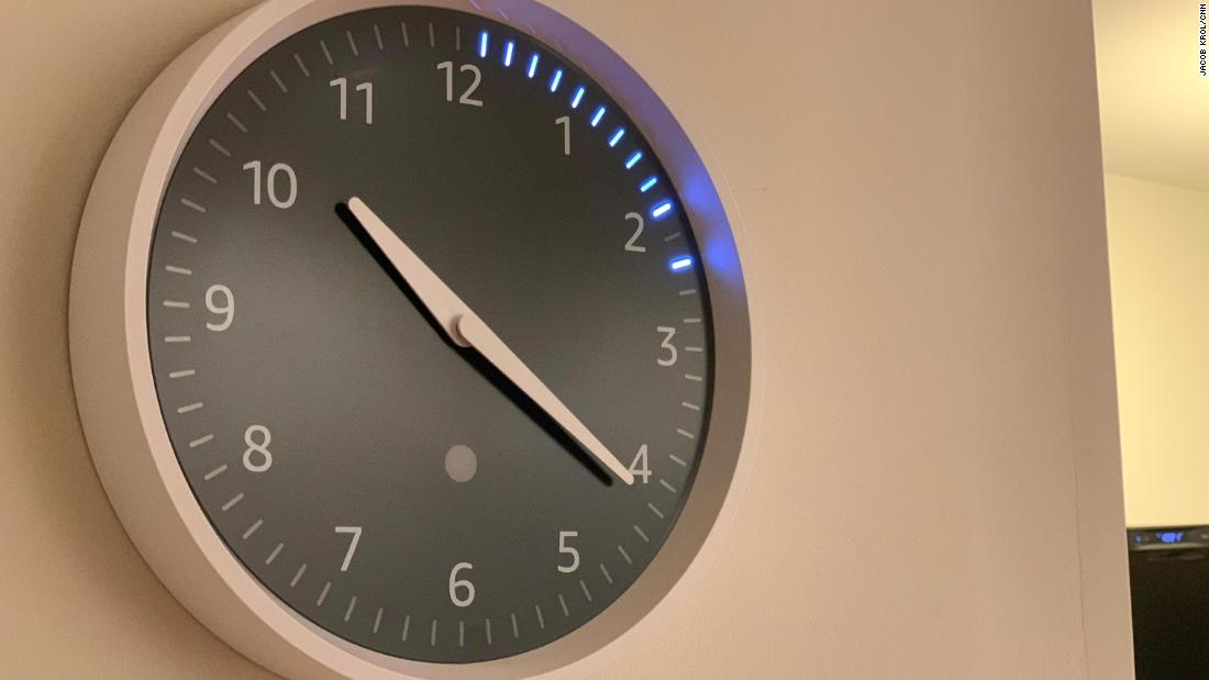 The Echo Wall Clock tells time and visualizes Alexa timers