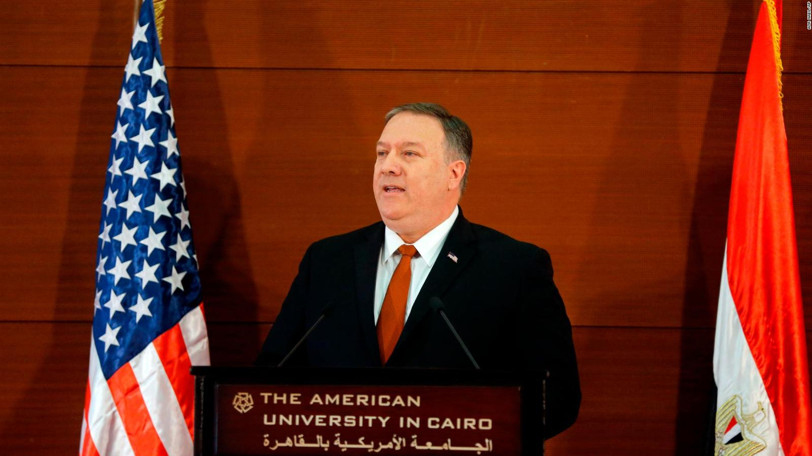 Pompeo rebukes Obama and takes on Iran in Cairo speech