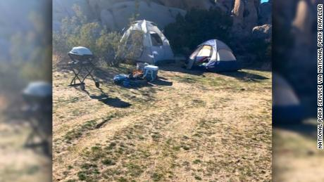 A group of people set up camp on an illegal camp site, David Smith told National Parks Traveler.