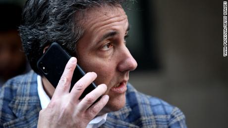 NEW YORK, NY - APRIL 13:  Michael Cohen, U.S. President Donald Trump's personal attorney, takes a phone call  as he sits outside near the Loews Regency hotel on Park Ave on April 13, 2018 in New York City. Following FBI raids on his home, office and hotel room, the Department of Justice announced that they are placing him under criminal investigation. (Photo by Yana Paskova/Getty Images)