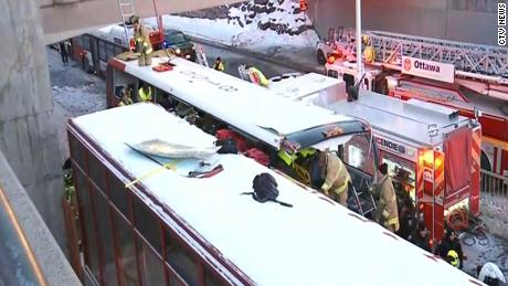 Several injuries in Ottawa bus crash, no immediate word of fatalities