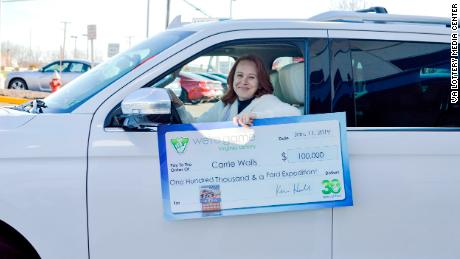 Wife of furloughed federal worker wins $100,000 plus SUV in Virginia lottery