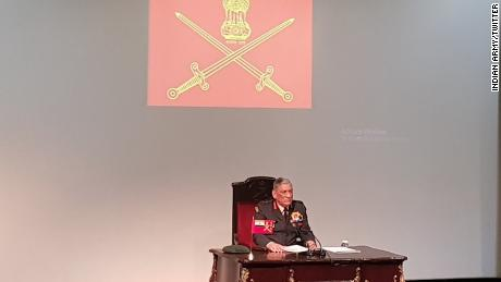 Indian Army Chief Bipin Rawat addresses the media ahead of India's Army Day, which takes place on January 15th each year.